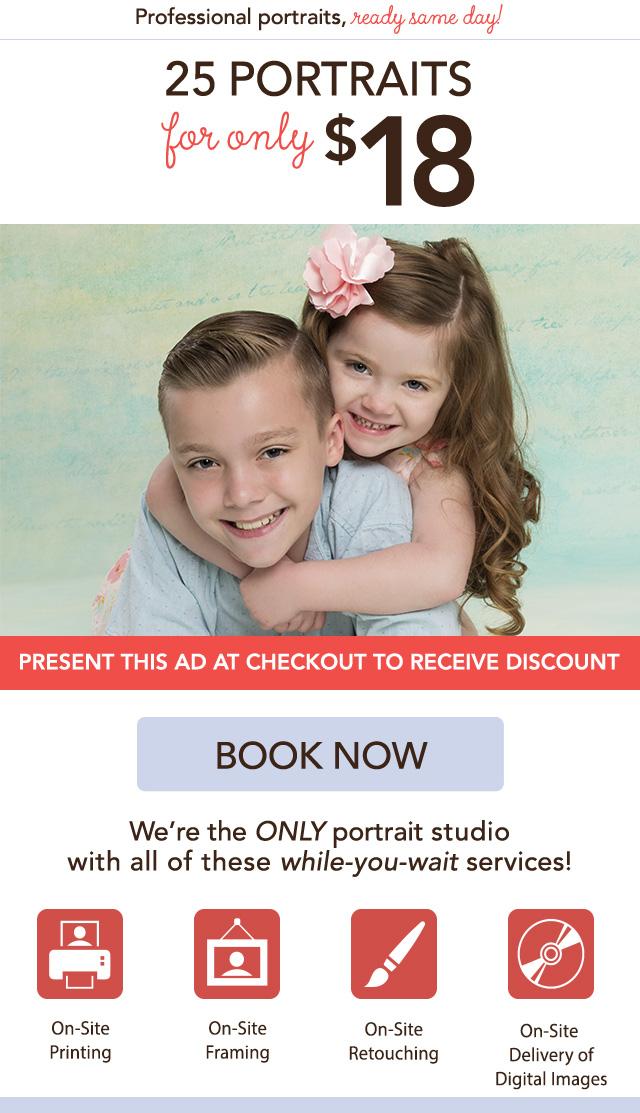 $18 Portrait Package